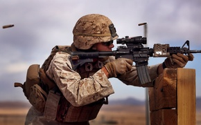 Picture weapons, soldiers, U. S. Marine Corps