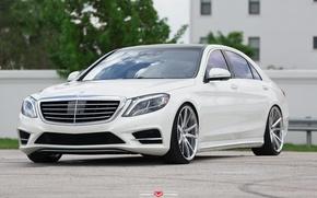 Picture machine, auto, Mercedes, before, Mercedes, Benz, wheels, drives, auto, S550, Vossen Wheels