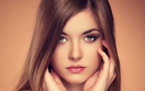 Picture background, portrait, makeup, Annie