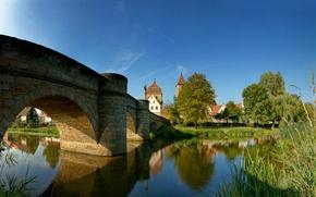 Wallpaper buildings, bridges, water, city, building, river, river