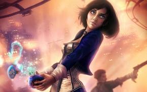 Picture dress, BioShock, Elizabeth, bioshock infinite, Booker DeWitt, salts, vigor, fan art girl