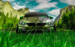 Picture Nature, Design, Mountains, Grass, BMW, Style, BMW, Wallpaper, Nature, Grass, Green, Photoshop, Photoshop, Green, Design, …