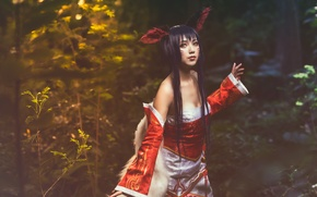 Picture girl, nature, style, clothing, Asian