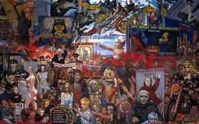 Wallpaper policy, capitalism, communism, The market of our democracy, Ilya Glazunov