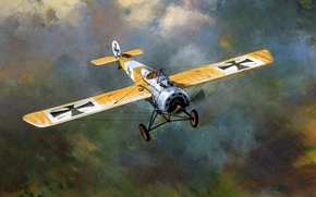 Picture aviation, figure, fighter, art, the plane, roy cross