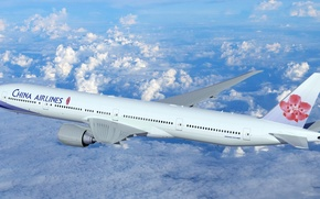 Picture The sky, Clouds, Earth, Boeing, Flight, Flight, Clouds, Sky, Earth, Boeing, Passenger, Boeing 777, Passenger, ...