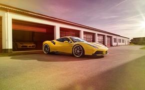 Picture machine, auto, garage, Ferrari, Ferrari, Rosso, Novitec, 488 GTB