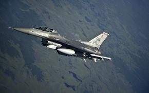 Picture fighter, flight, F-16, Fighting Falcon