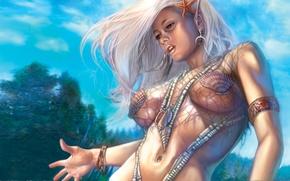 Wallpaper figure, girl, Nevervinter Nights, background