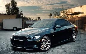 Wallpaper auto, bmw, black