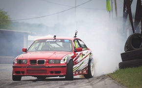Picture car, BMW, drift, smoke, photo, race, burnout, e36, MMaglica photo, MMaglica, tire, Poljak, burn
