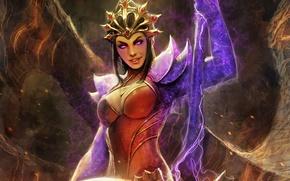 Picture girl, magic, art, staff, Diablo III, wizard, Reaper of Souls
