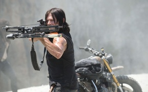 Picture crossbow, The Walking Dead, The walking dead, Norman Reedus, Daryl