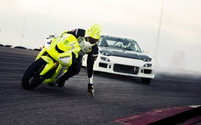 Picture machine, track, motorcycle, drift