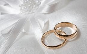 Wallpaper wedding, white, bow, engagement rings, background