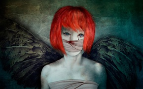 Picture girl, fantasy, wings, art