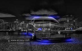 Picture -Car, -Crystal, -City, -2014-Blue, Nissan-Skyline, -GTR, -R32