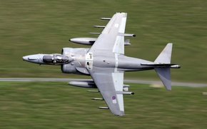 Wallpaper the plane, low, flight, Harrier