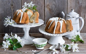 Picture flowers, pie, cream, cakes, sweet, Anna Verdina