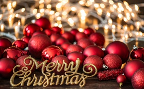 Wallpaper balls, red, holiday, new year, decor
