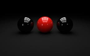 Picture reflection, circles, balls, round, different, wallpapers, circle