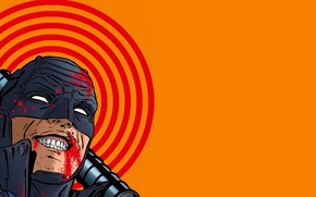 Picture face, blood, comics, Midnighter