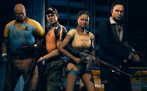 Picture Left 4 Dead 2, Valve, Ellis, Rochelle, Nick, Coach, fps