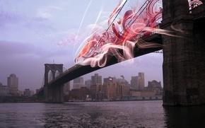 Wallpaper treatment, New York, Bridge