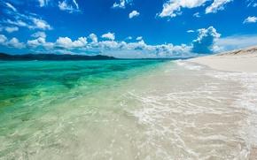 Picture summer, the ocean, polar, British Virgin Islands, Sandy Cay Island