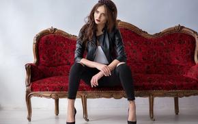 Picture girl, pose, background, Darina