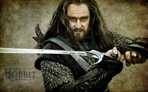 Wallpaper sword, Richard Armitage, Richard Armitage, Torin Oakenshield, hobbit, warrior, The hobbit