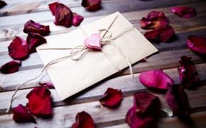 Picture letter, background, widescreen, Wallpaper, heart, rose, petals, wallpaper, rose, heart, flower, different, rose petals, widescreen, …