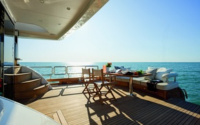 Picture luxury, yacht, cockpit, dinner, deck, motor, Magellano