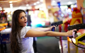 Picture girl, face, hair, guns, the game, Creek, Darina, voice, the world of entertainment