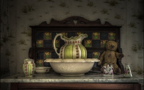 Picture style, toy, bear, figurine, pitcher, Taz, Teddy bear