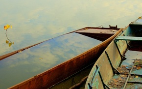 Picture water, reflection, boat