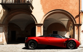 Picture house, supercar, arch, pagani, Pagani, wire, to huayr