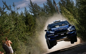 Picture Ford, Jump, Ford, WRC, Rally, Fiesta, The front