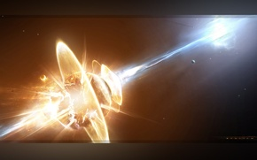 Wallpaper collapse, planet, stars, the explosion, Requiem
