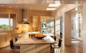 Picture light, interior, kitchen, design. house