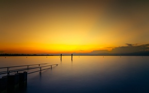 Picture Sony, landscape, Italy, sunset, water, clouds, lake, sun, sundown, sunrise, orange, horizon, sunlight, blue hour, …