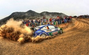 Picture ford, rally, wrc, focus, fans, M. Gronholm