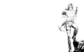 Picture Girl, Game, Bow, Tomb Raider, Lara Croft, Game, 2013