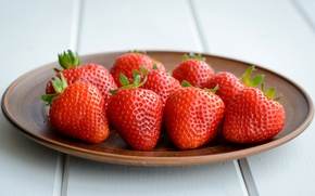 Picture Strawberry, Plate, Food