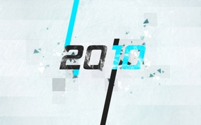 Picture particles, grey, blue, black, new year, 2010