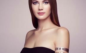 Picture portrait, makeup, elegant woman, Fashion portrait