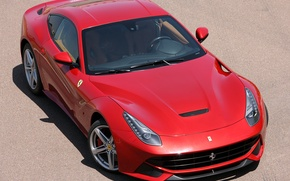 Picture Ferrari, red, Sands, berlinetta, F12, the ferrari f12