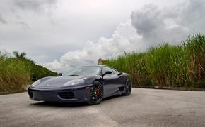 Picture tuning, Shine, supercar, drives, double, Ferrari 360, flip-up headlights, sports car