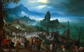 Picture picture, religion, mythology, Jan Brueghel the elder, The Preaching Of Christ