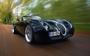 Picture Roadster, Road, Machine, Movement, Black, Wiesmann, Car, Car, Cars, Black, Road, Roadster, Visman, MF4